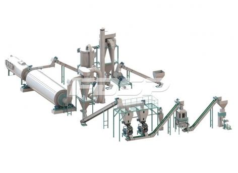 linha de produção de granulação de resíduos vegetais de 4-6 toneladas por hora