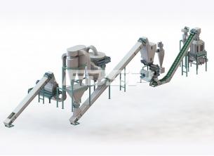 Linha de produção de granulação de ca