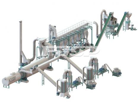 Linha de produção de granulação de palha de biomassa de 5-7 toneladas por hora