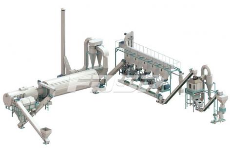 Linha de produção de granulação de biomassa de resíduos de palma como de 4-6 ton