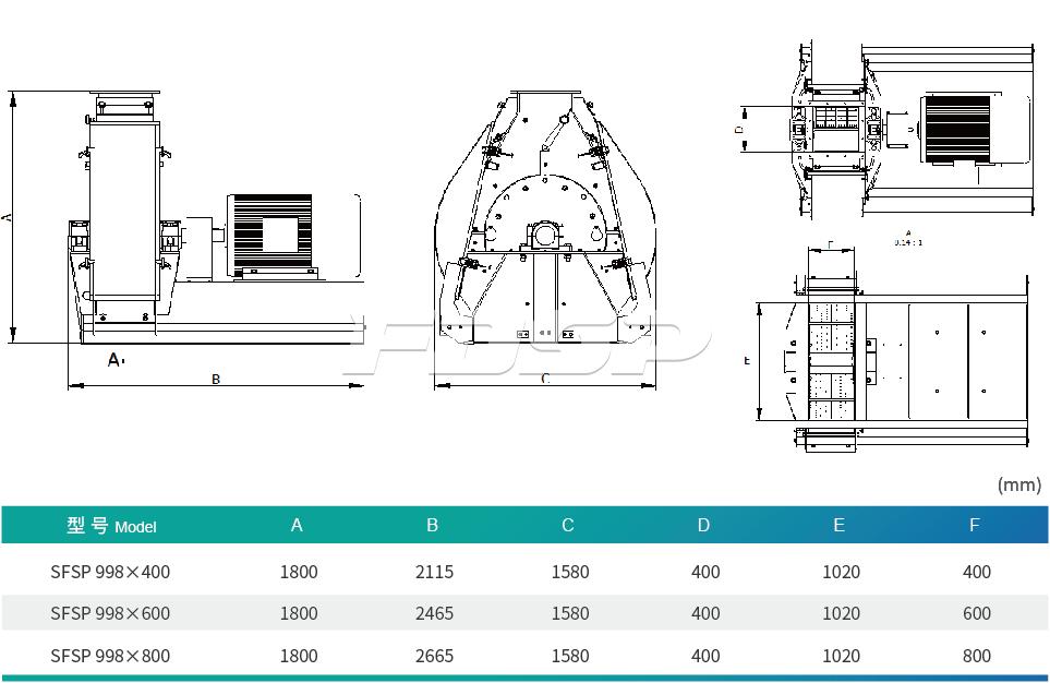 SFSP998 Series Tear Circle Hammer Mill