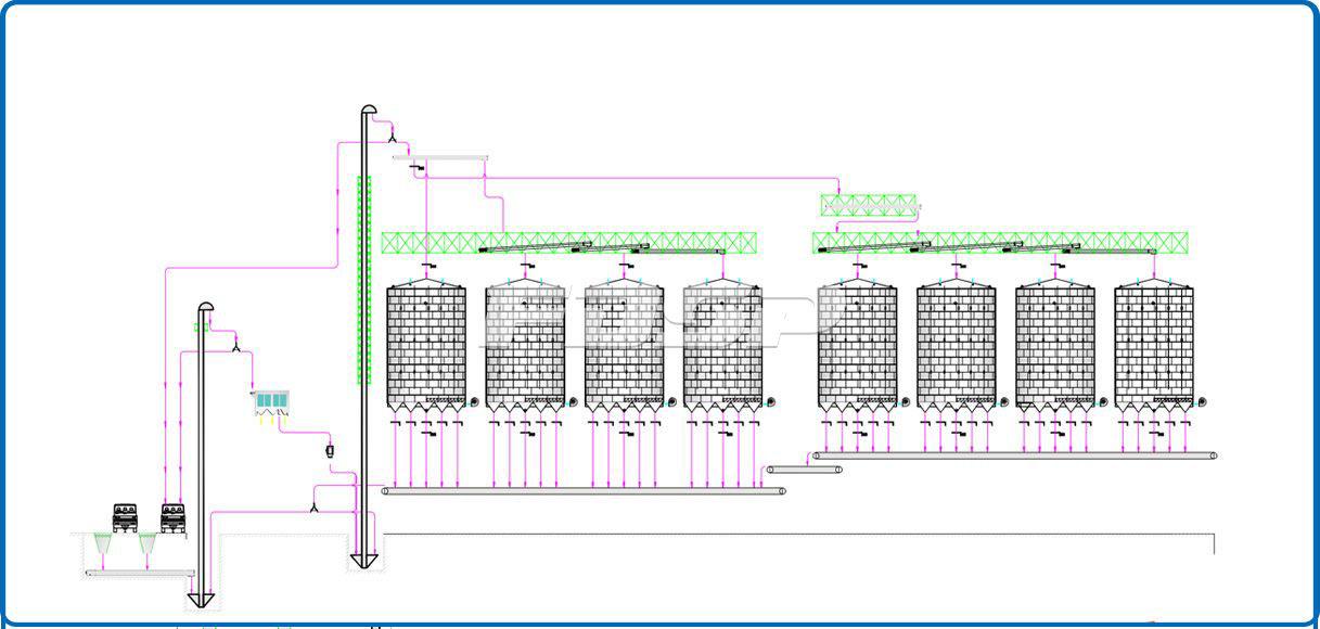 8-4000T Corn Silo Storage Project in Grain Industry