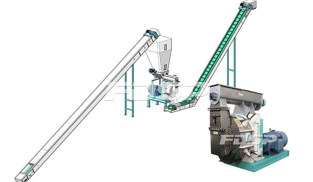 1.5-2.5t/h sheep manure organic fertilizer pellet production line