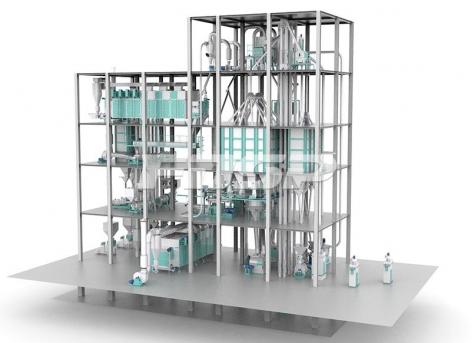 Linha dupla de  6-12T / H da linha de produção de ração aquática de extrusão
