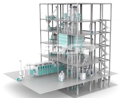 Linha de produção de ração aquática expandida(produção de 3-6 toneladas por hora