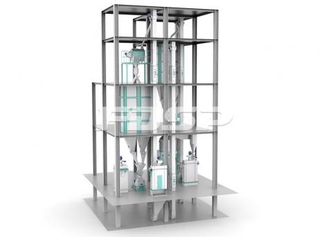 Milho extrudado 1-2T / H ou linha de produção de soja extrudada 3-4T / H