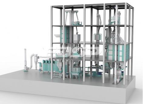 linha de produção de ração para animais de estimação(produção de 2-3 toneladas p