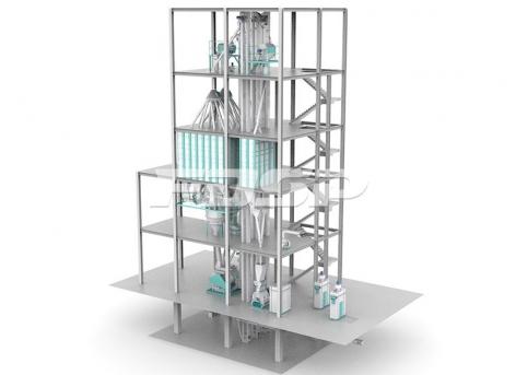 linha de produção de ração concentrada (produção de 15 toneladas por hora)