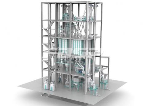 linha dúpla de produção de ração aquática normal SZLH420(15 toneladas por hora)