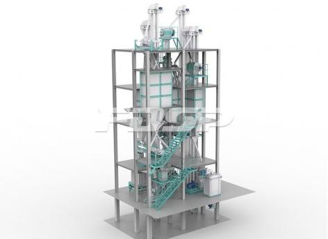Linha de produção de ração normal aquática 3tph
