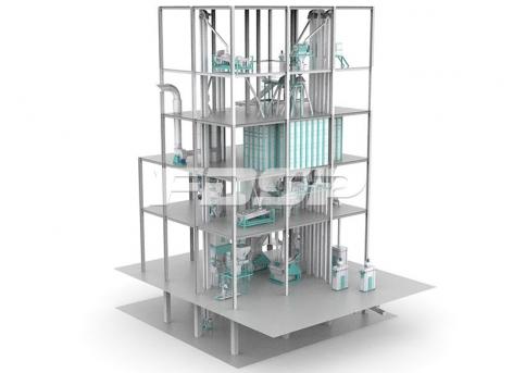linha única de produção SZLH420X de ração para camarão e caranguejo(produtividad