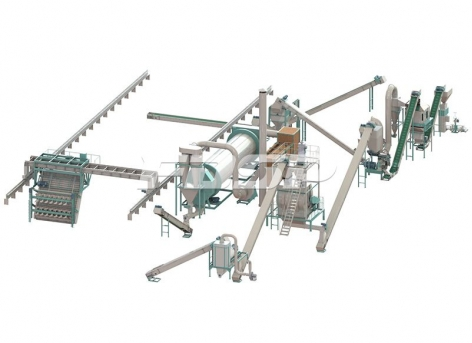 Linha de produção de 1,5-2,5 toneladas por hora de granulação de adubo orgânico