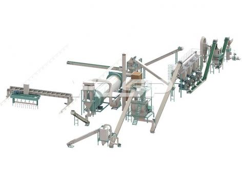 linha de produção de granulação de 10-12 toneladas por hora de estrume de vaca a