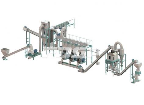 Linha de produção de granulação de sobras de 2,5-3,5 toneladas por hora