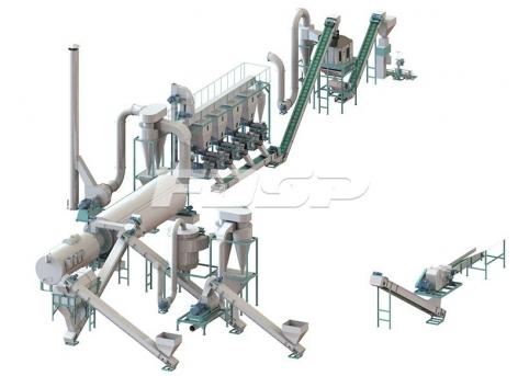 linha de produção de granulação de modelos de construção de 3-5 toneladas por ho