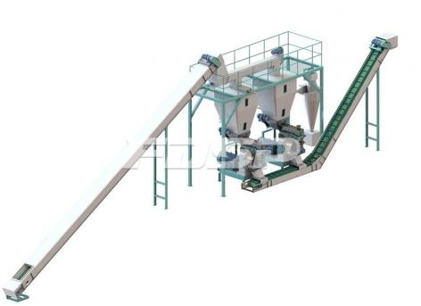 Linha de produção de pelotas de madeira de biomassa de 1,5-2,5 toneladas por hor