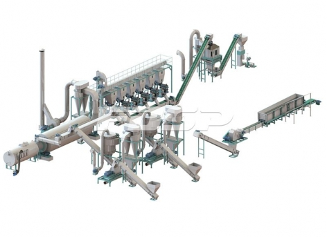 linha de produção de granulação de toro de 5-7 toneladas por hora