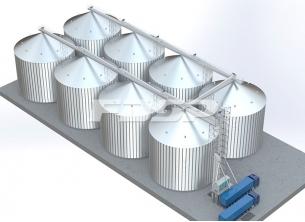 Projeto de silo de aço de soja 8-4000T d
