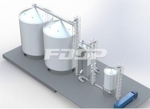 Projeto de silo de aço de soja 2-4000T d
