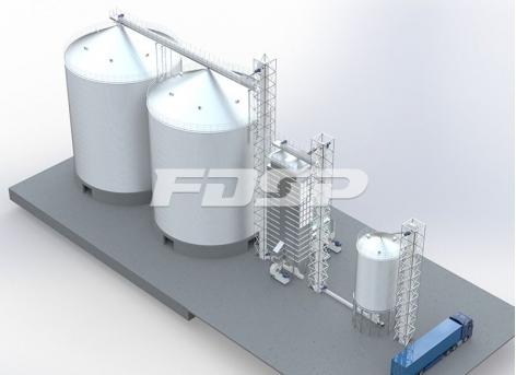 Projeto de silo de aço de soja 2-4000T da indústria de grãos