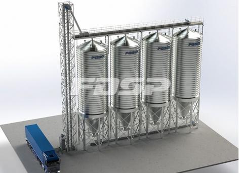 Projeto de silo de aço de farinha de soja 4-200T
