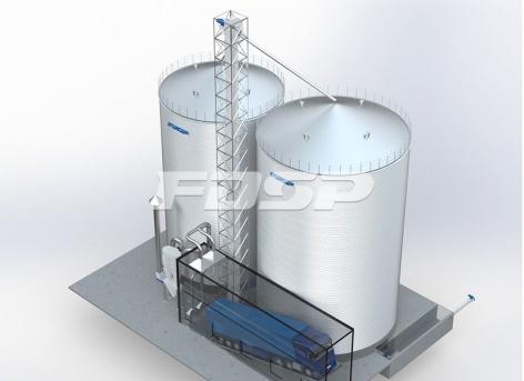 Introdução do projeto de silo de milho 1-2000T e 1-3000T na indústria de ração