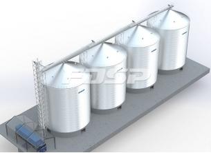 Projeto de silo de aço de cimento 4-3000