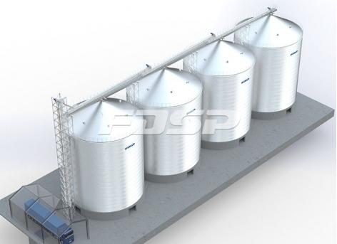 Projeto de silo de aço de cimento 4-3000T na indústria de construção