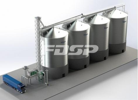 Projeto de silo de aço de soja 4-2000T da indústria de petróleo