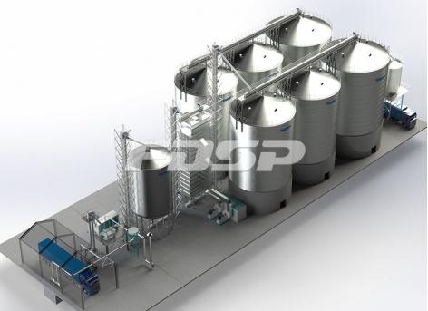 Projeto do silo de aço da fábrica de petróleo 4-1500T e 2-2000T na indústria de