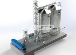 Projeto de silo de aço de trigo na indú