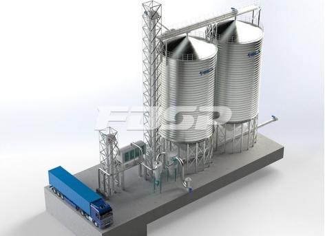Projeto de silo de aço de trigo na indústria de fabricação de cerveja 2-1000T
