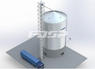 Projeto de silo de aço para sorgo para i