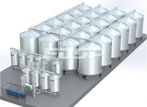 Projeto de silo de aço de soja 24-2500T