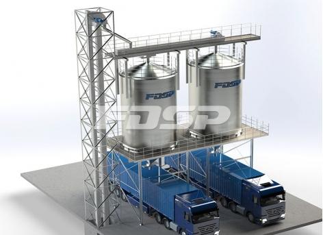 Projeto de silo de aço a granel de produtos acabados