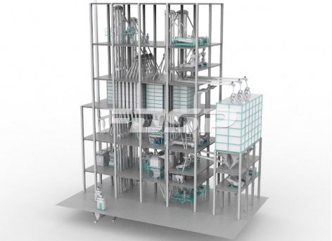 Linha de produção de ração para gado e aves SZLH508 (45 toneladas por hora) de três linhas