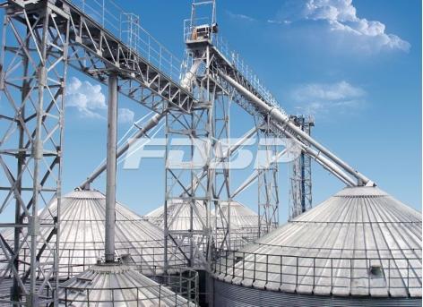 Passarela do projeto do silo